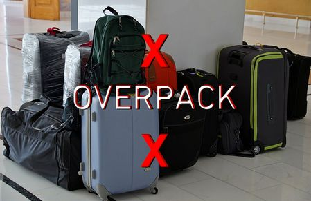 How not to overpack in travel