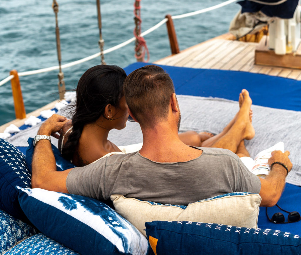 Outdoor deck to enjoy the sunrise and sunset, journey to komodo island